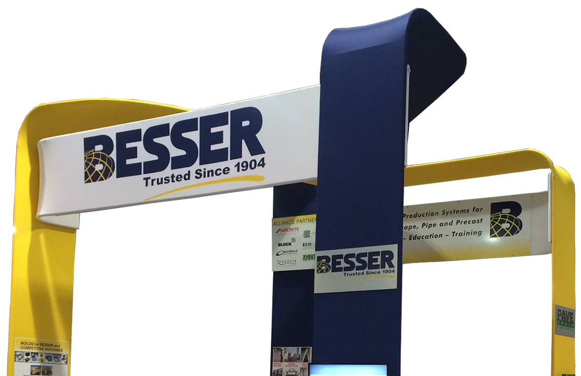 Besser Company Trade Show Stand